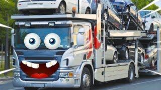 car transporter,face doodle. peekaboo face surprise.car transporter emoji
