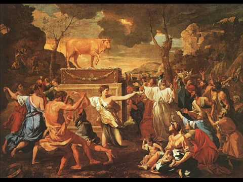 An Imagined Poussin Triptych II. The Adoration of the Golden Calf