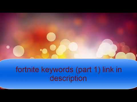 Fortnite Keywords