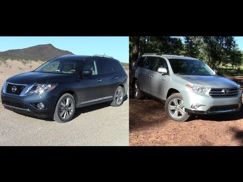 toyota highlander vs 2014 nissan pathfinder youtube. Black Bedroom Furniture Sets. Home Design Ideas