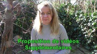 Proposition de vidéos supplémentaires