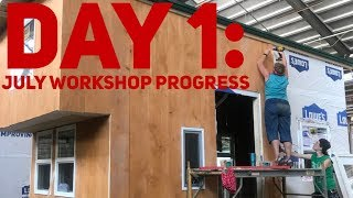 Incredible Tiny Homes: Build Your Own Tiny Home Workshop Day 1 Progress