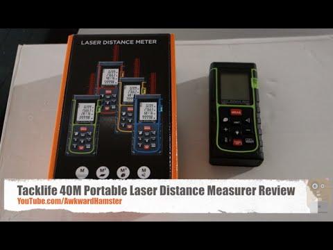 Tacklife Advanced Laser Entfernungsmesser : Tacklife m portable laser distance measurer review youtube
