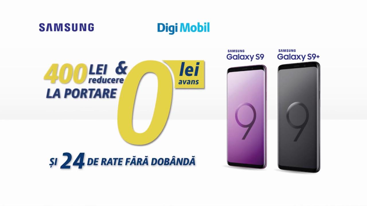 Oferta Digi Mobil - Samsung Galaxy S9 si S9+