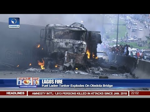 Several Feared Killed As Fuel Tanker Explodes In Lagos Pt 1 | News@10 | 28/06/18