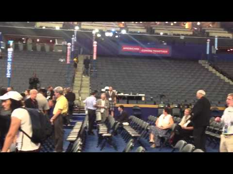 View from the floor of Time Warner Cable Arena the day befo