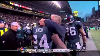 HD!!!  Marshawn Lynch Seahawks Saints 67-yard Beast Mode TD Run in super-HD