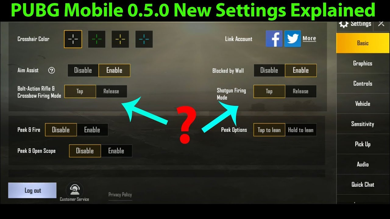 There Are Best Settings For Pubg Mobile Game: Overview Of New Settings Options