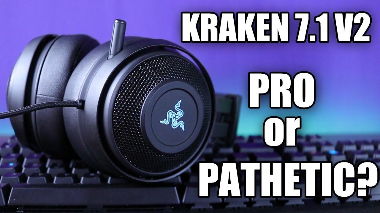 Razer Kraken 7.1 V2 Review and Mic Test - YouTube