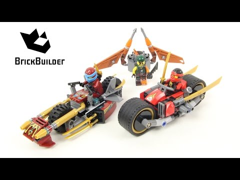 lego ninjago 70600 ninja bike chase - lego speed build - youtube