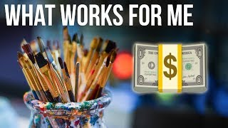 HOW I MAKE MONEY FROM MY ART | Business Monday 2