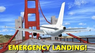 EMERGENCY LANDING on the Golden Gate Bridge! (Flight Sim X Multiplayer Chaos)