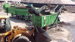 Stump pile rejects Rock wood separation