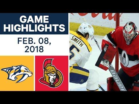 NHL Game Highlights | Predators vs. Senators - Feb. 8, 2018