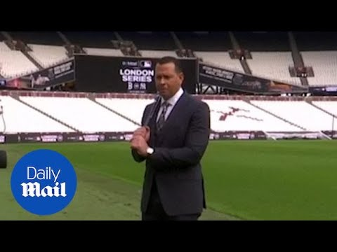 Alex Rodriguez tours London Stadium ahead of the London Series