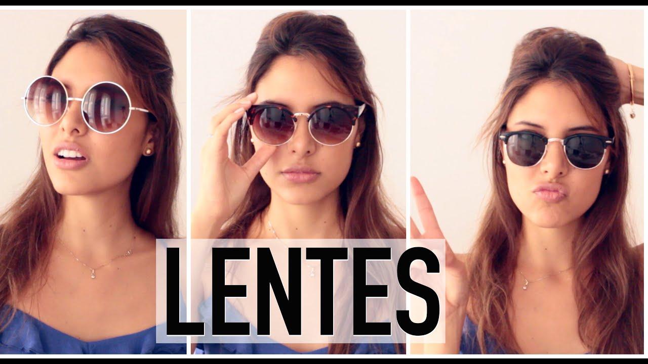 84b63383f8 LENTES PARA LA FORMA DE TU ROSTRO | Valeria Basurco - YouTube