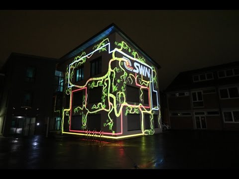 "Making-of 3D Projection Mapping ""Stadtwerke Neustadt GmbH"" (HD)"