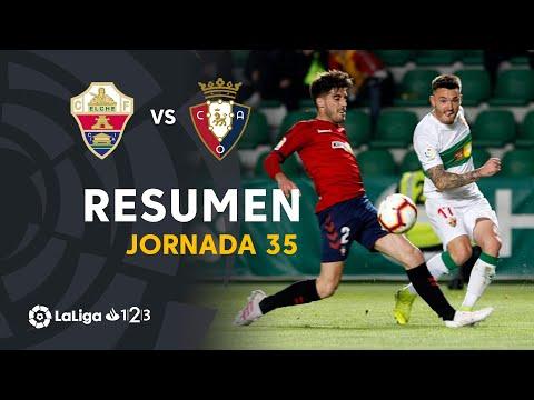 Resumen de Elche CF vs CA Osasuna (1-2)