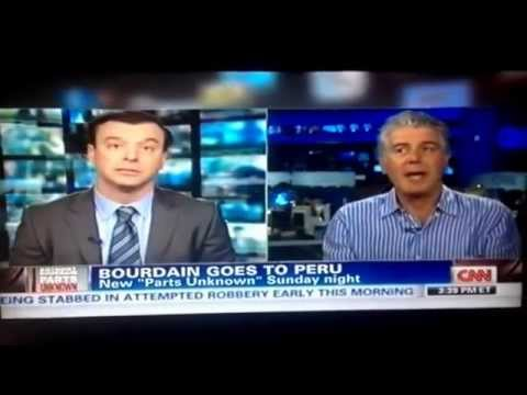 Anthony Bourdain In CNN About Perú. Sunday 9.00 pm