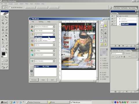 Photoshop CS2 - Phần 5 - Bài 5 - Quét ảnh