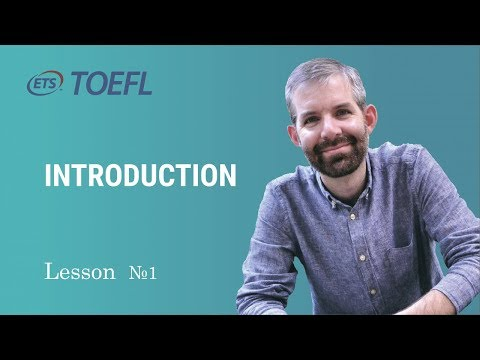Toefl Class. Lesson 1. Introduction with Jonathan
