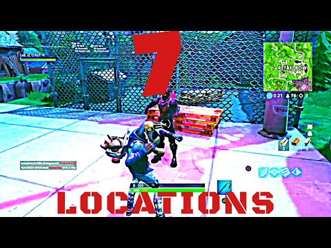 Fortnite Season 6 - Dance Under 7 Different Streetlights Spotlights