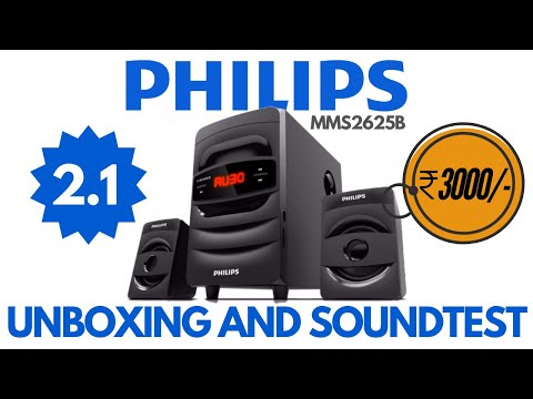 Best Budget 2.1 Speaker | Philips 2.1 Home Theater MMS2625B Unboxing and SoundTest | 2.1 Bluetooth