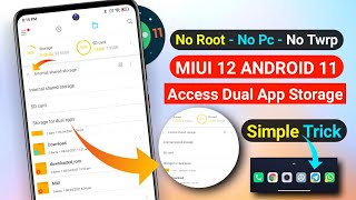 MIUI 12 ANDROID 11 | HOW TO ACCESS MIUI 12 ANDROID 11 DUAL APP STORAGE | MIUI 12 ANDROID 11 DUAL APP screenshot 4