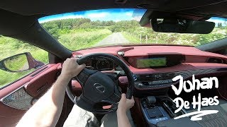 Lexus LS 500h AWD 359 hp POV test drive