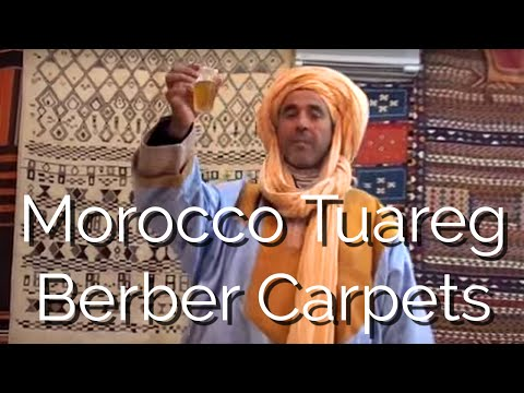 MOROCCAN TUAREG SAHARAN CARPET SALES PERSON TAYEB