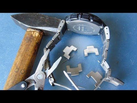 Как укоротить браслет на часах Casio