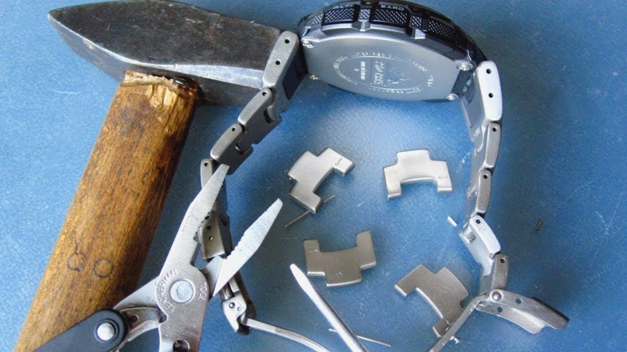 Как разобрать браслет в часах casio