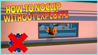 ROBLOX JAILBREAK HOW TO NOCLIP WITHOUT EXPLOITING! (GLITCH!)
