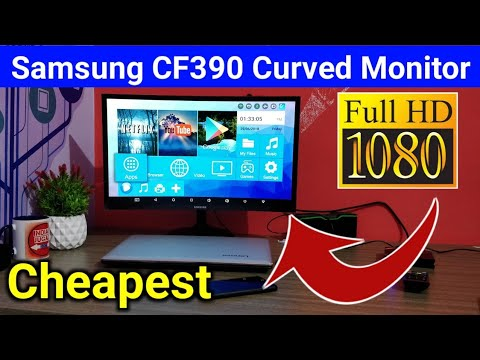 Samsung CF390 Curved full HD Monitor Unboxing - Cheapest Full HD Curved LED Monitor - 동영상