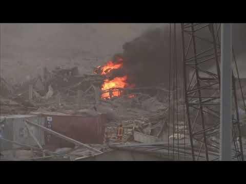 Бейрут: видео взрыва и последствия на данный час. Кадры с улиц