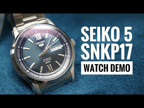 Seiko 5 SNKP17 Automatic Dress Watch Up Close (Watch Demo) [HD]