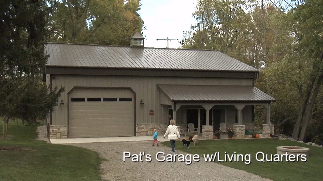 Pat 39 s garage w living quarters youtube for Garage designs with living quarters