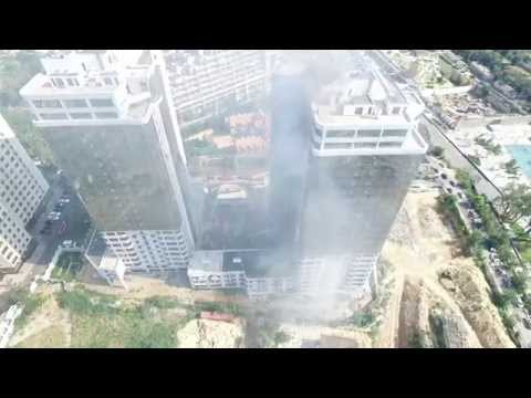 Fire in Odessa Пожар в Одессе 29.08.2015 Аркадия