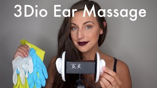 ASMR 3Dio Ear Massage | Ear Tapping | Cupping | Gloves | Lotion | Close Whispers