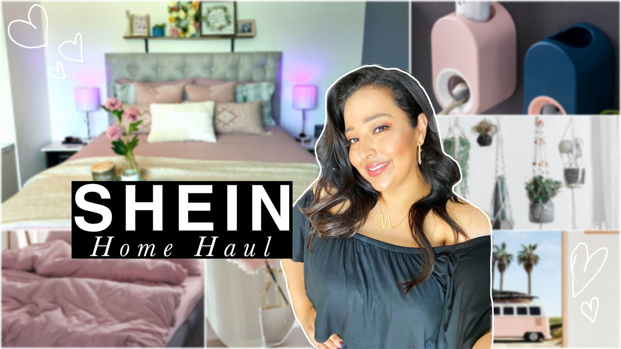 SHEIN HOME DECOR HAUL 15  AESTHETIC ROOM MAKEOVER ON A BUDGET!