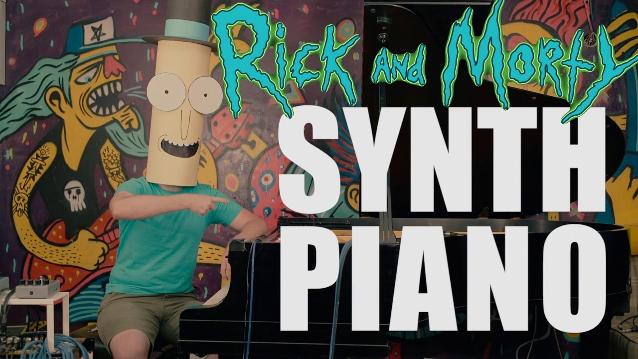 Mr. Poopy Butthole plays Rick and Morty theme song on a synth piano