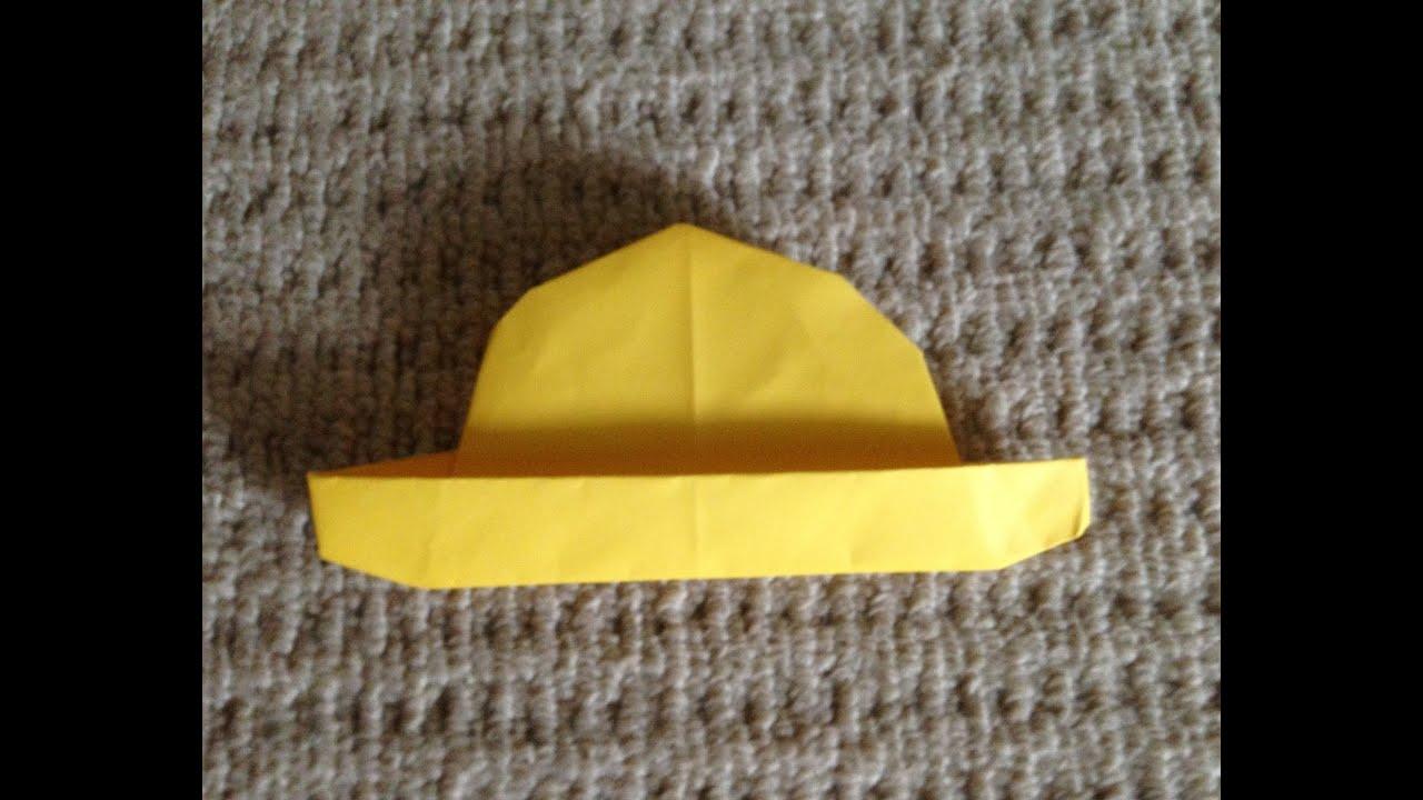 すべての折り紙 折り紙 折り方 簡単 : 折り紙 麦わら帽子 折り方 ...