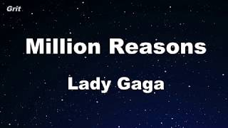 Million Reasons - Lady Gaga Karaoke 【No Guide Melody】 Instrumental Video