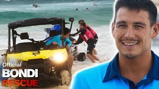The Lifeguard Buggy Gets Bogged In An Emergency Jet Ski Launch