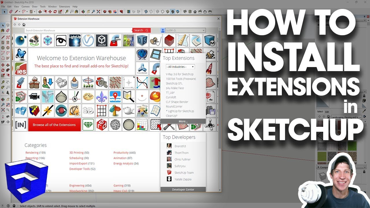 How to INSTALL EXTENSIONS in SketchUp