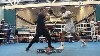 ANTHONY JOSHUA 'S FULL MEDIA MITT WORKOUT FOR JOSEPH PARKER