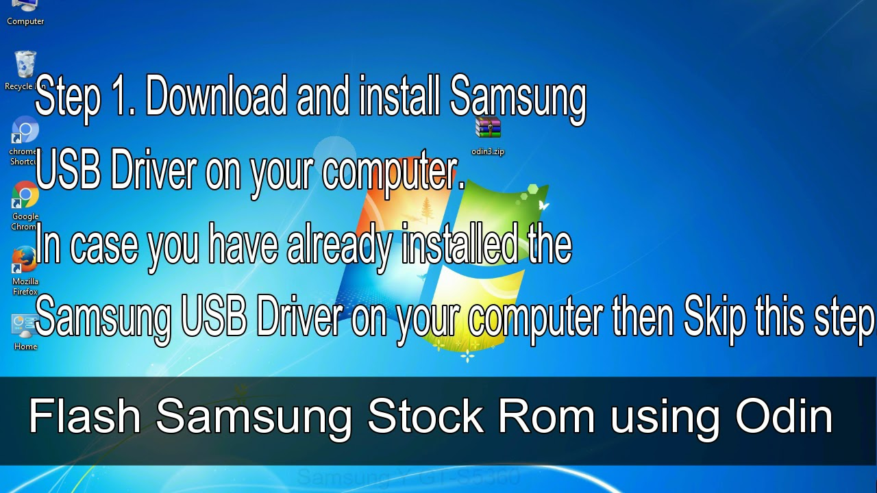 How to Samsung Galaxy Y GT S5360 Firmware Update (Fix ROM)
