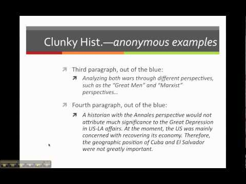 Clunky Historiography 2011-03-12