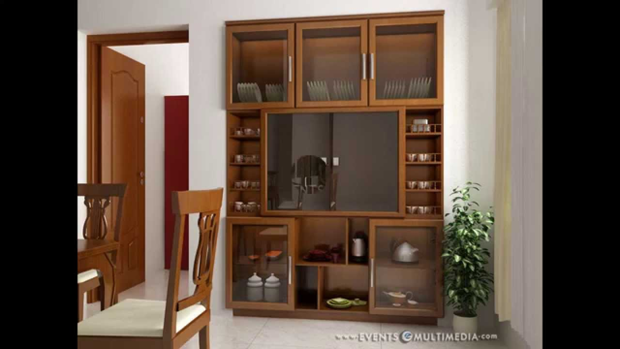 Interior gallery crockery shelf samples youtube for Kitchen dining hall design