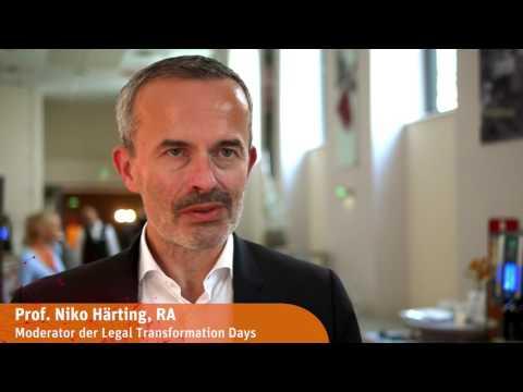 Interview mit Prof. Niko Härting | Legal Transformation Days 2017